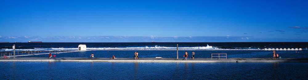 Afternoon swim at Merewether Ocean Baths, Australia