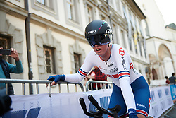Alice Barnes (GBR) finishes the UCI Road World Championships 2018 - Elite Women's ITT, a 27.7 km individual time trial in Innsbruck, Austria on September 25, 2018. Photo by Sean Robinson/velofocus.com