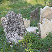 From The Depths visits the local Jewish cemetery and surrounding area on July 1, 2015 in Stará Ľubovňa, Slovakia. (Photo by Elan Kawesch)