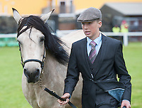 20/08/2015  Patrick Keaney  with Clonroe Gerry in the Young Handlers Class (aged 10-15 years) at the Connemara Pony Show 2015 in Clifden Co. Galway. Photo:Andrew Downes