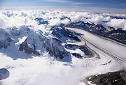 Kahiltna Glacier, Aerial Photo, Denali National Park, Alaska