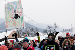Supporters of Katja Pozun during Normal Hill Individual Competition at FIS World Cup Ski jumping Ladies Ljubno 2012, on February 11, 2012 in Ljubno ob Savinji, Slovenia. (Photo By Vid Ponikvar / Sportida.com)