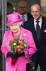 The Queen and Duke Of Edinburgh open Rambert dance company's new premises in south east London, following a move from Chiswick, Rambert Dance Company, London, United Kingdom. Friday, 21st March 2014. Picture by i-Images