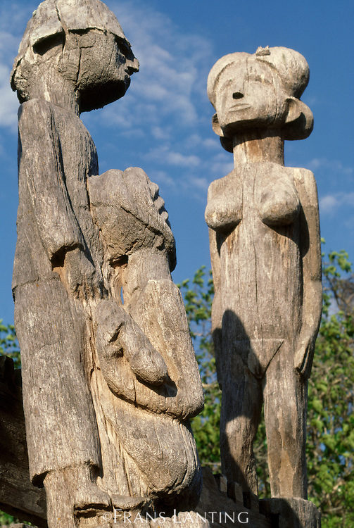 Erotic sculptures in Mahafaly graveyard, Madagascar