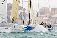 © Sander van der Borch.Alicante, 11 October 2008. Start of the Volvo Ocean Race. Telefonica blue, with Bouwe Bekking at the helm rounded the bottom mark in third position