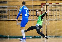 Kastelic Urh of Slovenia during friendly handball match between national teams Slovenia and Montenegro on 4th Januar, 2020, Trbovlje, Slovenia. Photo By Grega Valancic / Sportida