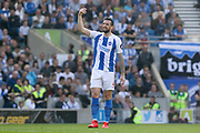 Brighton and Hove Albion defender Shane Duffy (4) gestures during the Premier League match between Brighton and Hove Albion and Southampton at the American Express Community Stadium, Brighton and Hove, England on 30 March 2019.