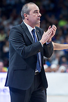 Valencia Basket coach Txus Vidorreta during Turkish Airlines Euroleague match between Real Madrid and Valencia Basket at Wizink Center in Madrid, Spain. December 19, 2017. (ALTERPHOTOS/Borja B.Hojas)