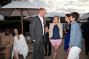 MISAN HARRIMAN; LILY BECKER; BORIS BECKER; SIDNEY FINCH, Chucs Dive & Mountain Shop charity Swim Party: Lido at The Serpentine. London. 4 July 2011. <br /> <br />  , -DO NOT ARCHIVE-© Copyright Photograph by Dafydd Jones. 248 Clapham Rd. London SW9 0PZ. Tel 0207 820 0771. www.dafjones.com.