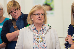Mayor of Ashford Cllr Jesamy Blanford at the opening of FareShare's relocated warehouse in Ashford, Kent. Ashford, Kent, May 23 2019.