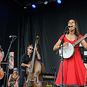 WASHINGTON, DC - September 26th, 2015 - Rhiannon Giddens performs at the 2015 Landmark Festival in Washington, D.C.  (Photo by Kyle Gustafson / For The Washington Post)