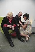 Fay Weldon, Rupert  Lycett-Green and Emma Hope, Vogue 90th birthday party and to celebrate the Vogue List, Serpentine Gallery. London. 8 November 2006. ONE TIME USE ONLY - DO NOT ARCHIVE  © Copyright Photograph by Dafydd Jones 66 Stockwell Park Rd. London SW9 0DA Tel 020 7733 0108 www.dafjones.com