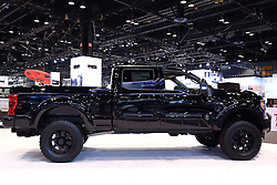 09 February 2017: Ford Black Ops pick up <br /> <br /> First staged in 1901, the Chicago Auto Show is the largest auto show in North America and has been held more times than any other auto exposition on the continent.  It has been  presented by the Chicago Automobile Trade Association (CATA) since 1935.  It is held at McCormick Place, Chicago Illinois<br /> #CAS17