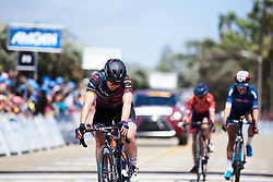 Lisa Klein (GER) crosses the line at Amgen Tour of California Women's Race empowered with SRAM 2019 - Stage 1, a 96.5 km road race in Ventura, United States on May 16, 2019. Photo by Sean Robinson/velofocus.com