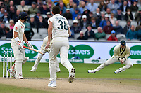 Cricket - 2019 Australia Ashes Tour of England - 4th Test, Day Three<br /> <br /> Rory Burns ct Steve Smith b. Jason Hazlewood at Old Trafford<br /> <br /> COLORSPORT/WINSTON BYNORTH
