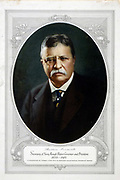 Theodore D. Roosevelt (1858-1919) 26th President of the United States of America (1901-1909), the youngest man to be elected as US President. Photographic portrait published at the time of his death.