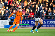 Dundee United forward Paul McMullan (#7) looks to take on Dundee defender Jack Hendry (#22) during the Betfred Scottish Cup match between Dundee and Dundee United at Dens Park, Dundee, Scotland on 9 August 2017. Photo by Craig Doyle.