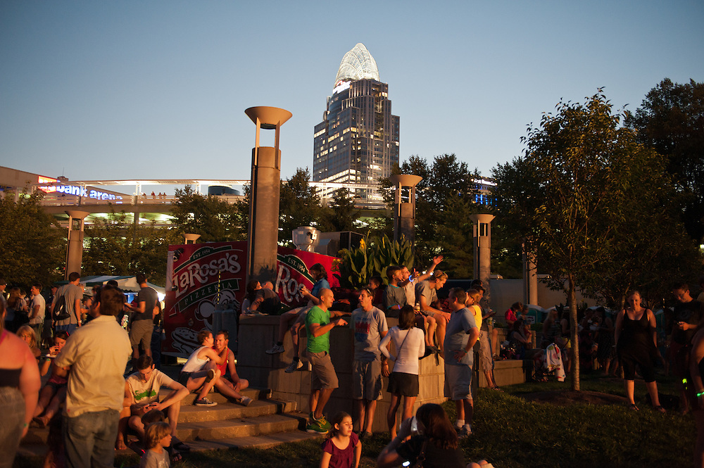 Fans attend Bunbury Music Festival at Sawyer Point/Yeatman's Cove in Cincinnati, Ohio on July 12, 2013.