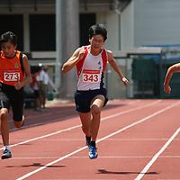 B Boys 100m