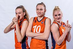 15-03-2017 NED:  Reportage jeugd Oranje, Arnhem<br /> Jeugd Oranje klaar voor het EK in eigen land. Dagmar Boom #4 of Netherlands