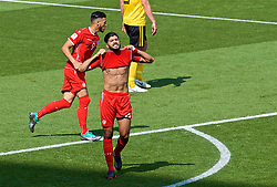MOSCOW, RUSSIA - Saturday, June 23, 2018: Tunisia's Ferjani Sassi looks dejected after missing a chance during the FIFA World Cup Russia 2018 Group G match between Belgium and Tunisia at the Spartak Stadium. (Pic by David Rawcliffe/Propaganda)
