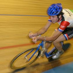 ALKMAAR (NED) wielrennen<br /> NK Baanwielrennen ; mannen 2004,; Achtervolging