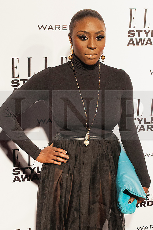 © Licensed to London News Pictures. 18/02/2014. London, UK. Laura Mvula attends the ELLE Style Awards 2014 at One Embankment in central London. Photo credit : Andrea Baldo/LNP