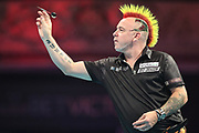 Peter Wright during the BetVictor World Matchplay Darts 2018 sem final at Winter Gardens, Blackpool, United Kingdom on 28 July 2018. Picture by Shane Healey.