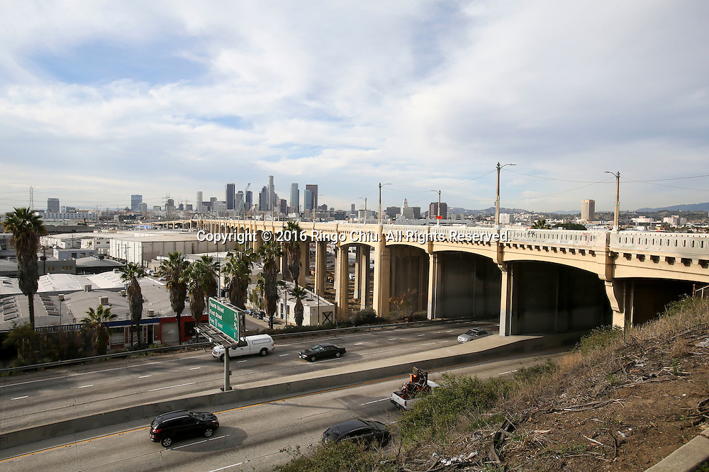 The Sixth Street Bridge is photographed on Wednesday, January 27, 2016 in Los Angeles. The Sixth Street Viaduct, a Los Angeles landmark famous for its appearances in films such as &ldquo;Grease&rdquo; and &ldquo;Terminator 2: Judgment Day,&rdquo; was closed to traffic Wednesday in preparation for its demolition next week. (Photo by Ringo Chiu/PHOTOFORMULA.com)<br /> <br /> Usage Notes: This content is intended for editorial use only. For other uses, additional clearances may be required.