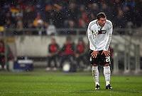 Fussball           EM Qualifikation        17.11.07 Deutschland - Zypern Lukas PODOLSKI (GER), enttaeuscht.