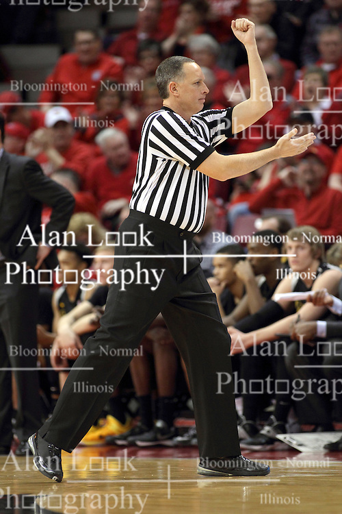 14 February 2015:   Don Daily during an NCAA MVC (Missouri Valley Conference) men's basketball game between the Wichita State Shockers and the Illinois State Redbirds at Redbird Arena in Normal Illinois