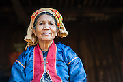 Palaung tribe old woman portrait (Myanmar)