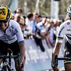 03-04-2016: Wielrennen: Ronde van Vlaanderen vrouwen: Oudenaarde  OUDENAARDE (BEL) cycling  The sixth race in the UCI Womensworldtour is the ronde van Vlaanderen. A race over the famous Flemish climbs.