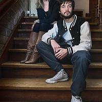 Nederland, Amsterdam, 28 januari 2016.<br />Anna van der Heide, regisseur en acteur Vanja Rukavina.<br /><br /><br /><br />Foto: Jean-Pierre Jans