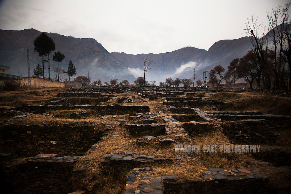 The ruins of a Gandhara Buddhist monastery are seen in the Swat Valley, on February 12, 2011, outside Mingora, Pakistan. The Kingdom of Gandhara lasted from early 1st millennium BC to the 11th century AD, and was located in northern Pakistan and eastern Afghanistan. (Photo by Warrick Page)