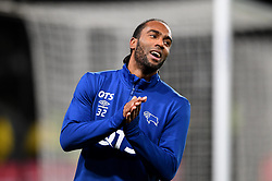 Cameron Jerome of Derby County warms up before the game  - Mandatory by-line: Joe Meredith/JMP - 19/01/2018 - FOOTBALL - Pride Park Stadium - Derby, England - Derby County v Bristol City - Sky Bet Championship