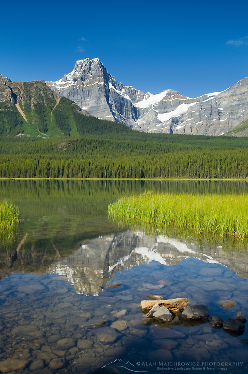 Howse Peak from Waterfowl Lakes, Banff National Park Alberta Canada