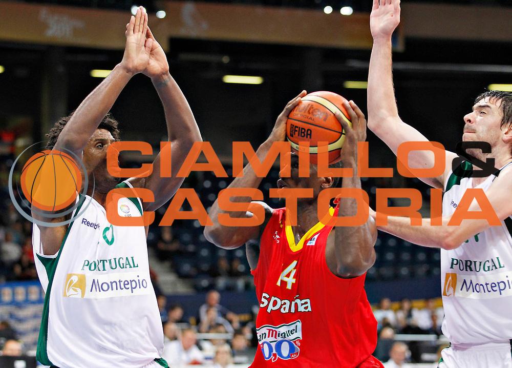 DESCRIZIONE : Panevezys Lithuania Lituania Eurobasket Men 2011 Preliminary Round Spagna Portogallo Spain Portugal<br /> GIOCATORE : Serge Ibaka<br /> SQUADRA : Spagna Spain<br /> EVENTO : Eurobasket Men 2011<br /> GARA : Spagna Portogallo Spain Portugal <br /> DATA : 01/09/2011 <br /> CATEGORIA : palleggio<br /> SPORT : Pallacanestro <br /> AUTORE : Agenzia Ciamillo-Castoria/L.Kulbis<br /> Galleria : Eurobasket Men 2011 <br /> Fotonotizia : Panevezys Lithuania Lituania Eurobasket Men 2011 Preliminary Round Spagna Portogallo Spain Portugal<br /> Predefinita :