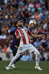September 29, 2018 - Barcelona, Barcelona, Spain - Raul Garcia Escudero (R) of Athletic Club de Bilbao competes for the ball with Clement Lenglet of FC Barcelona during the La Liga match between FC Barcelona and Athletic Club de Bilbao at Camp Nou on September 29, 2018 in Barcelona, Spain  (Credit Image: © David Aliaga/NurPhoto/ZUMA Press)