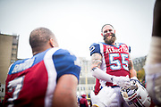 Match des Alouettes contre Edmonton le 9 Octobre 2017 au stade Percival Molson<br /> Photo: Dominick Gravel <br /> http://www.dominickgravel.com