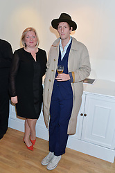 TABITHA PHILPOT-KENT and HENRY HUDSON at a party to celebrate the reopening of the Turps Art School held at Shapero Modern, 32 St.Georges Street, London on 14th October 2014.