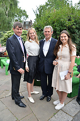Left to right, SIMON CRISFORD, KATE REARDON, CHARLES GORDON-WATSON and GEORGINA CRISFORD at the launch of Chelsea Thoroughbreds held at St.Luke's Church, Sydney Street, London on 2nd July 2014.