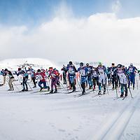 Keppnin - Fjölskyldufossavatnið, 5km gangan og 15km free style