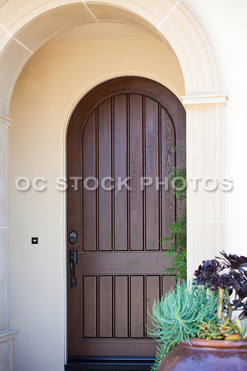 Old World Arched Front Door Entry Way Socal Stock Photos Oc
