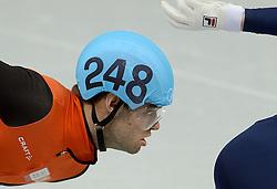 10-02-2014 SHORTTRACK: OLYMPIC GAMES: SOTSJI<br /> 1500 meter met Sjinkie Knegt<br /> ©2014-FotoHoogendoorn.nl