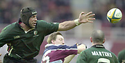 Photo - Peter Spurrier.25/01/2003 .Powergen Cup Quarter final London Irish v Rotherham.Chris Sheasby