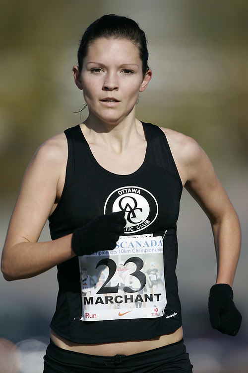 (Ottawa, ON---18 October 2008) LANNI MARCHANT competes in the 2008 TransCanada 10km Canadian Road Race Championships. Photograph copyright Geoff Robins/Mundo Sport Images (www.msievents.com).
