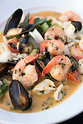 Seafood Bouillabaisse with shrimps and mussel