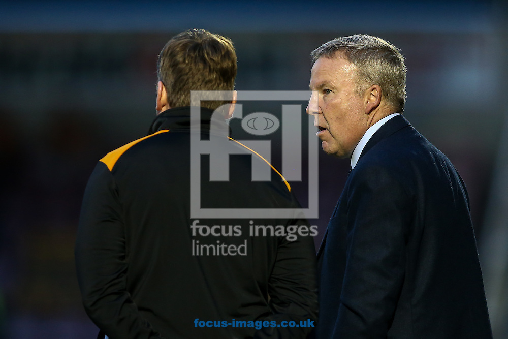 Wolverhampton Wanderers head coach Kenny Jackett (right) during the pre-season match at Sixfields Stadium, Northampton<br /> Picture by Andy Kearns/Focus Images Ltd 0781 864 4264<br /> 26/07/2016