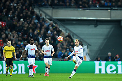 February 13, 2019 - London, England, United Kingdom - Tottenham midfielder Christian Eriksen puts a ball upfield during the UEFA Champions League match between Tottenham Hotspur and Ballspielverein Borussia 09 e.V. Dortmund at Wembley Stadium, London on Wednesday 13th February 2019. (Credit: Jon Bromley | MI News & Sport Ltd) (Credit Image: © Mi News/NurPhoto via ZUMA Press)